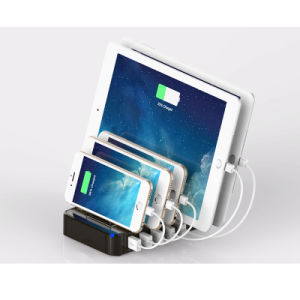 USB Charging Hub Desktop Station 5 Port Multi Charger Dock for iPhone iPad pictures & photos