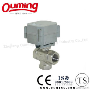 API Stainless Steel Three-Way Electric Ball Valve pictures & photos