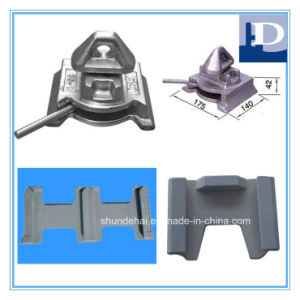 Casting Steel Container Fittings Dovetail Bottom Twistlock with Base Plate pictures & photos