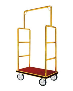 High Quality Stainless Steel Luggage Cart for Hotel Lobby pictures & photos