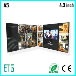 4.3 Inch Video Brochure /Video Greeting Card/LCD Blue Book-2014 Hot pictures & photos