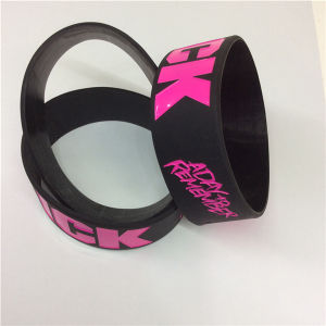 Customize Dedossed Printed Original Cheap Silicon Wristbands pictures & photos