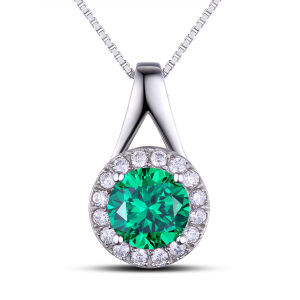 Fashion Jewelry Findings Gemstone Green Color Silver Pendant pictures & photos