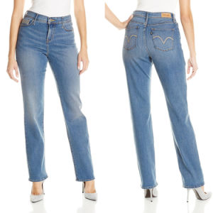 Ladies Blue Simple Cotton Spandex Jeans