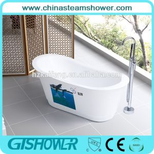 Acrylic Deep Freestanding Bathtub with Screen Printing (BL1007E) pictures & photos