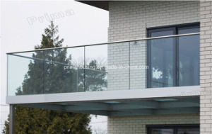 Aluminum U Channel Tempered Glass Balustrade for Balcony & Deck Railing pictures & photos