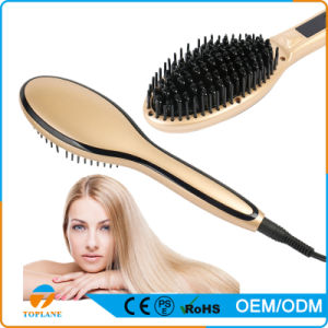 2016 New Professional Hair Straightener Brush Electric Hair Brush pictures & photos