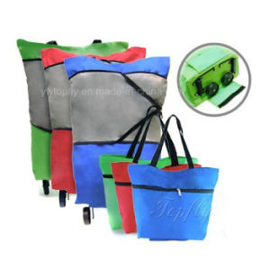 Manufactorer of Telescopic Wheel Bags with Splice Color Polyester pictures & photos