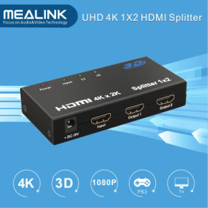 4k 1X2 1in 2 out HDMI Splitter pictures & photos