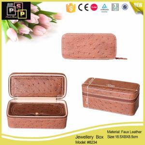Faux Leather Jewelry Boxes Wholesaler with Velvet Lining pictures & photos
