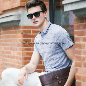 High Quality Striped Business Men Polo Shirt Sports Wear Golf Clothes pictures & photos