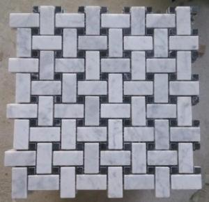 Basketwave Mosaic Tile Stone Marble Mosaic (HSM225) pictures & photos