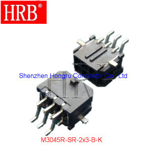 Right Angle Dual Row SMT PCB Header with Solder Tab pictures & photos