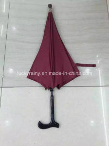 Straight Manual Open Stick Umbrella with Pongee Fabric