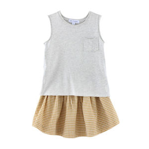 100% Cotton Knitted Sleeveless Children T-Shirt pictures & photos