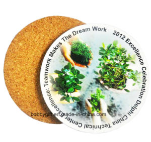High Quality Eco-Friendly Round Cup Cork Coaster pictures & photos