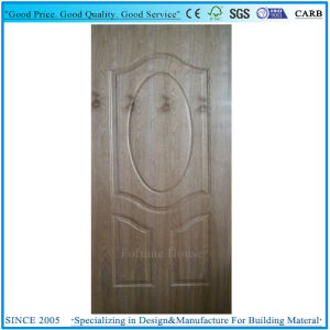 Laminate Moulded Door Panel Plywood with Natural Dark Walnut pictures & photos