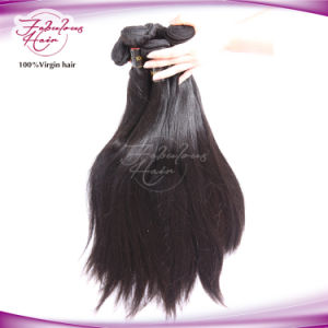 Yaki Straight Brazilian Remy Human Hair Weave pictures & photos