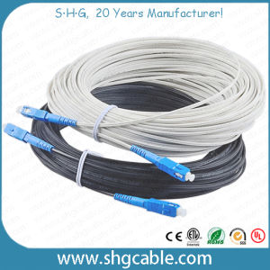All Dielectric FRP 1-4 Fibers Butterfly FTTH Fiber Optic Cable (GJXFH) pictures & photos