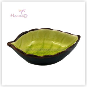 New Design Palm Leaf-Shaped Ceramic Sauce Dish Plate pictures & photos