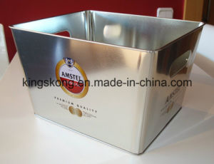 Tin Ice Bucket Metal Ice Bucket Metal Square Ice Bucket pictures & photos