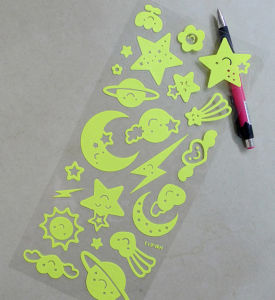 PVC Glow in The Dark Sticker pictures & photos