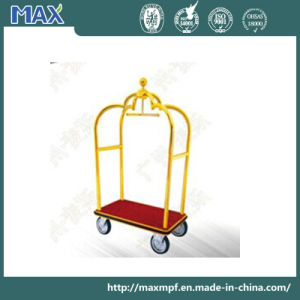 Stainless Steel with Titanium Coated Airport Luggage Trolley pictures & photos