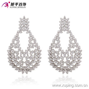 90680 New Fashion Rhodium Charming Luxuryzircon Jewelry Earring for Wedding pictures & photos