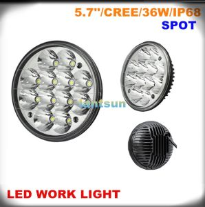 36W Round 5.7′′ LED Work Light for Offroad Jeep Truck SUV pictures & photos