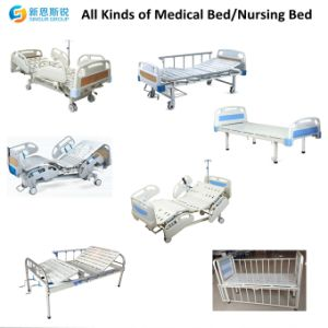 ABS Head/Foot Board Flat Medical Bed with Best Price pictures & photos