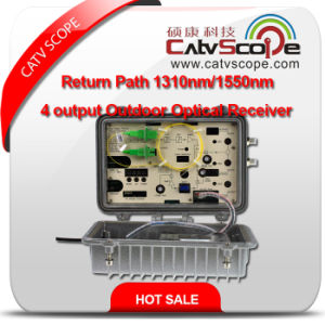 Professional Supplier High Performance Return Path 1310nm/1550nm 4 Output Outdoor Optical Receiver 1/RF 1310 or 1550 Outdoor Optical CATV Node pictures & photos