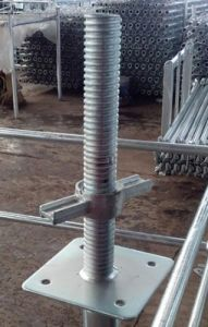 Scaffolding Screw Jack with Electro Galvanized Surface pictures & photos