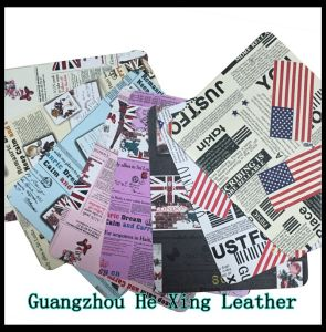 PU Leather Printed Leather for Sofa, Hand Bag, Shoes pictures & photos
