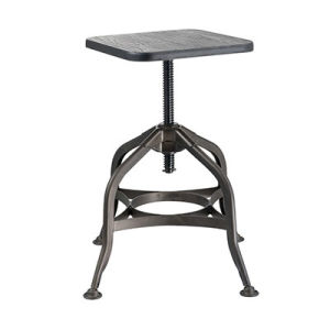 Reasonable Price Wooden Seat Metal Industrial Bar Stools (FS-Scew14037) pictures & photos