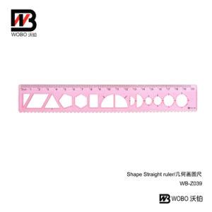 20cm Drawing Shape Sorter Plastic Ruler for Office Stationery
