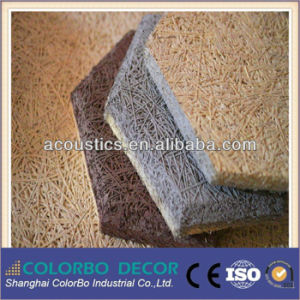 Soundproof Material Wood Wool Acoustic Panel for The Wall pictures & photos