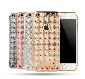 iPhone 7 7s Plus Eletroplating +TPU Agate Phone Shell Protection Metal Armor Mobile Case for iPhone 6/6s