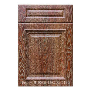 21mm Wooden Door Kitchen Cabinet Door From PVC Foil Board pictures & photos
