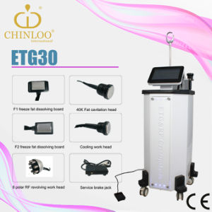 Non Invasive Multipolar RF Fat Cavitation Cellulite Reduction Cryolipolysis Slimming Beauty Machine (ETG30) pictures & photos