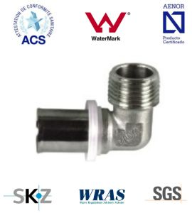 Press Fitting - Brass Fitting - Plumbing Fitting (Male Elbow) pictures & photos