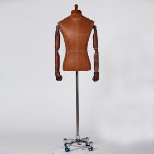 PU Wrapped Male Torso Mannequin with Wooden Arm pictures & photos