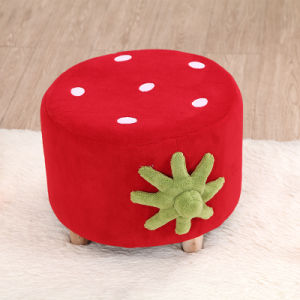 Red Coral Fleece Fabric Kids Ottoman pictures & photos