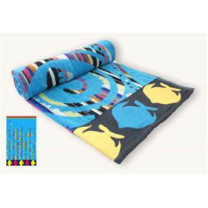 Cotton Velour Beach Towel of Colourful Design pictures & photos