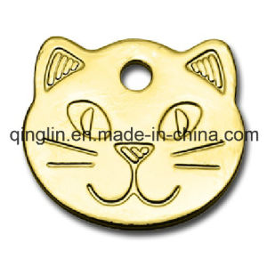 Custom Pattern Promotion Golden Dog Tag (QL-GP-0004) pictures & photos