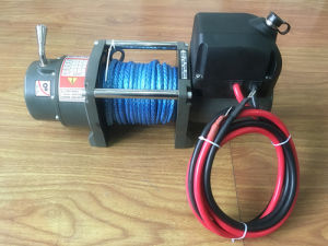 6000lb Heavy Duty Recovery Electric Winch with Synthetic Rope pictures & photos