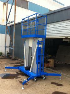 Man Lift Double Mast Aerial Work Platform pictures & photos