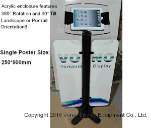 Exhibition Display iPad Kiosk Floor Stand with Poster