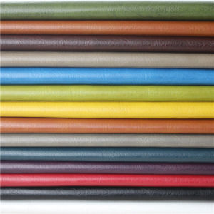 New Solvent-Free High Performance Crumpled Furniture PU Leatherette pictures & photos