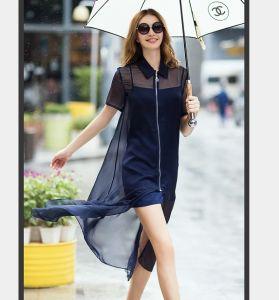 2015 Plus Size New Arrival Fashion Front Zipper Women Dress pictures & photos