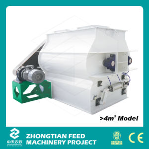 Double Shaft Feed Mixer Machine with Door-Opening Discharging Mechanism pictures & photos
